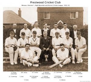 Prestwood Cricket Club Winners 1932-33-1600px