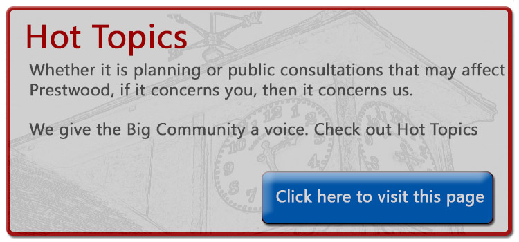 Hot Topics page for Prestwood Village Association